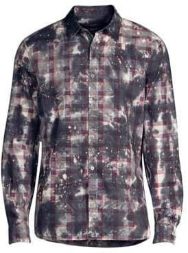 John Varvatos Irregular Plaid Button-Down Shirt