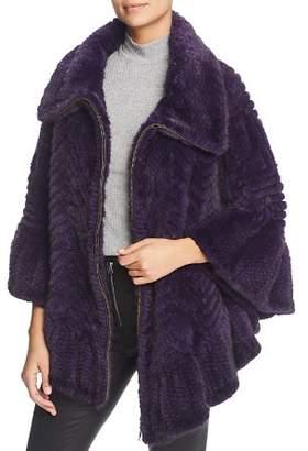 Maximilian Furs Knit Mink Fur Cape - 100% Exclusive