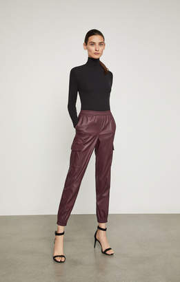 BCBGMAXAZRIA Cian Faux-Leather Cargo Pant