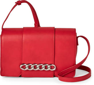 Urban Expressions Red Vienna Chain-Accented Crossbody