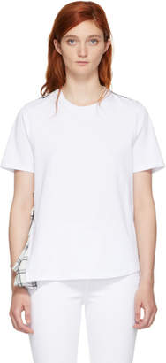 Opening Ceremony White Plaid Mix T-Shirt