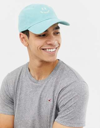 Hollister twill cap in blue