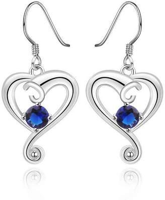 Factory fonk store_CA fonk_CA:: silver earings cloud heart purple drop cuff HBE019