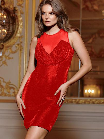 Velvet Crossover Dress