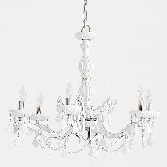 Crystal Chandelier - White