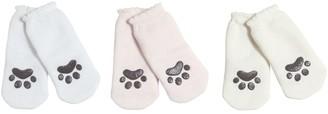Dolce & Gabbana Set Of 3 Anti-slip Cat Paw Cotton Socks