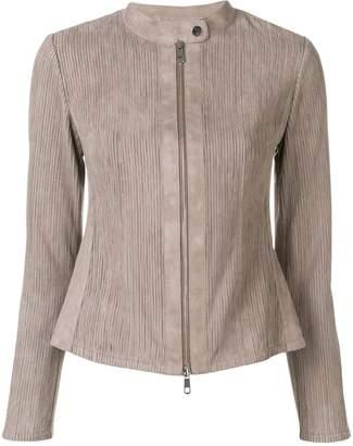 Desa 1972 striped suede jacket