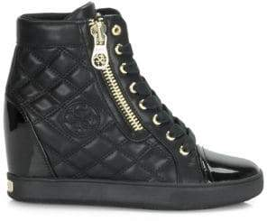 GUESS Quilted Wedge Sneakers