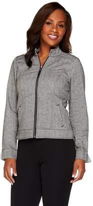 Liz Claiborne New York Herringbone Zip Front Jacket