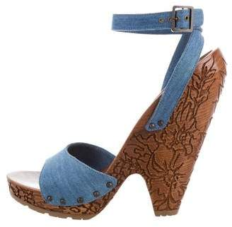 Stella McCartney Denim Platform Sandals