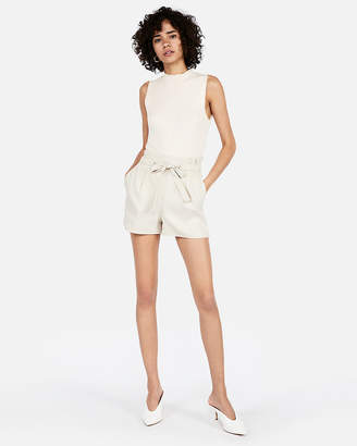 Express Super High Waisted Pull-On Tie Waist Shorts