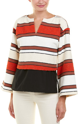 Derek Lam 10 Crosby Tweed 2-In-1 Top