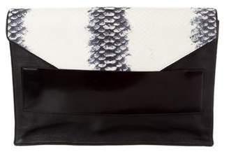 Narciso Rodriguez Tricolor Python Envelope Clutch