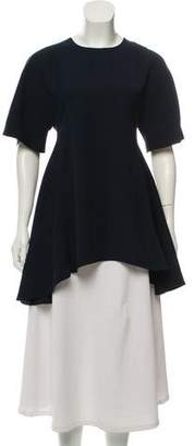 Adeam Keyhole-Accented High-Low Tunic