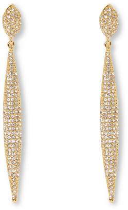 Vince Camuto Crystal Drop Clip Earrings