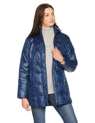 Big Chill Women's Plus Size Down Blend Toggle Puffer