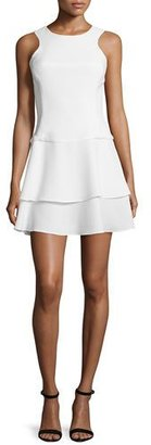 Black Halo Sleeveless Tiered-Skirt Dress $325 thestylecure.com
