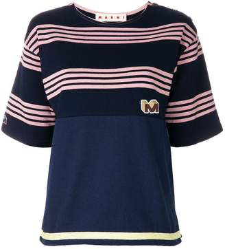 Marni striped design T-shirt