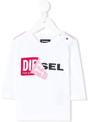 Diesel logo print top