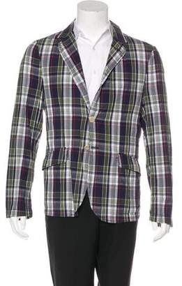 Aspesi Lightweight Plaid Sport Coat