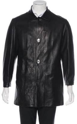 Salvatore Ferragamo Long Leather Coat