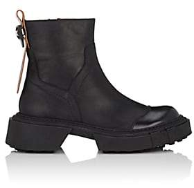 Acne Studios Women's Chunky-Sole Leather Ankle Boots-Black
