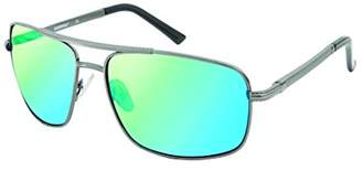 Southpole Men's 5010sp-gunbk Aviator Sunglasses