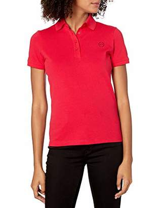 Armani Exchange A|X Women's Classic Polo with 4 Buttons and Logo Icon Beneath Collar