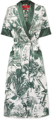 Panacea F.R.S For Restless Sleepers Printed Cotton And Silk-blend Twill Midi Dress - White