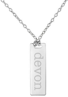 FINE JEWELRY Personalized Sterling Silver Name Dog Tag