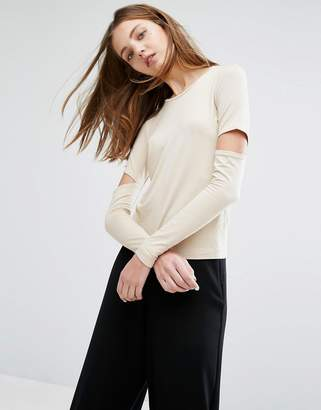 Weekday Cut Out Sleeve Top