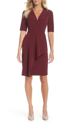 Maggy London Solid Dream Crepe Sheath Dress