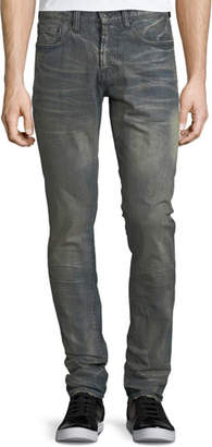 PRPS Dusty Distressed Slim/Straight-Leg Jeans