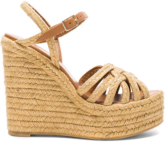 Saint Laurent Espadrille Wedges $595 thestylecure.com