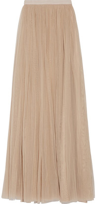 Needle & Thread - Tulle Maxi Skirt - Beige $165 thestylecure.com