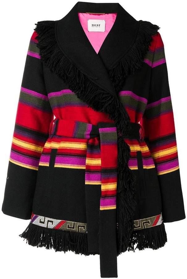 Bazar Deluxe striped cardi-coat