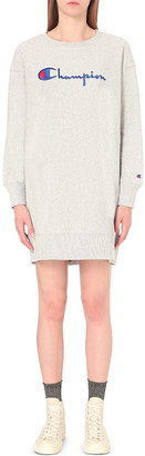 CHAMPION Logo-embroidered jersey dress $74 thestylecure.com