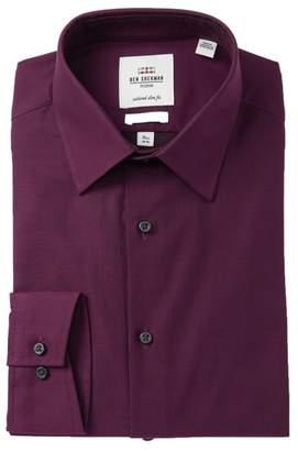 Ben Sherman Solid Stretch Tailored Slim Fit Dress Shirt