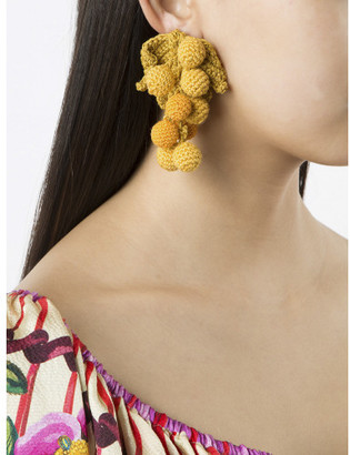 Rosie Assoulin knitted chunky earring $250 thestylecure.com