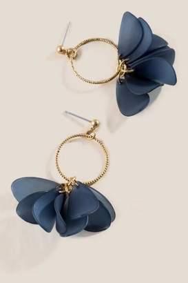 francesca's Lori Petal Drop Earrings - Navy