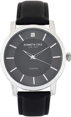 Kenneth Cole New York KC15114005 Silver-Tone & Black Watch
