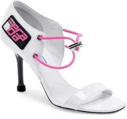Prada Leather d'Orsay High-Heel Sandals