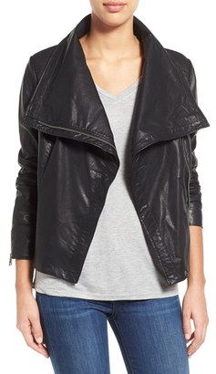 Women's Levi's Cowl Neck Faux Leather Jacket $150 thestylecure.com