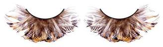 Baci Paradise Dreams Style No.609 Feather Eyelashes with Adhesive Included, Black by