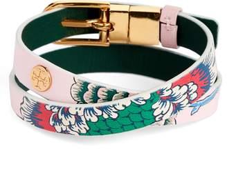 Tory Burch Happy Times Reversible Wrap Leather Bracelet