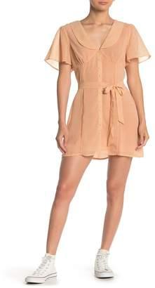 Emory Park Micro Check Button Down Dress
