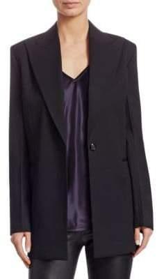 Helmut Lang Wool Button-Front Blazer