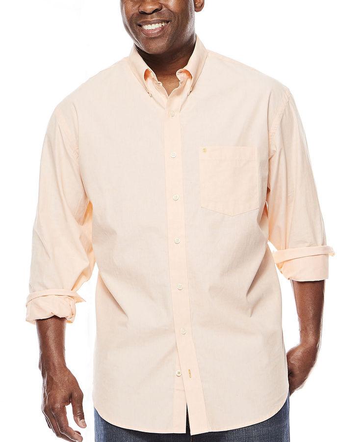 Izod long sleeve fashion essential shirt big tall for Izod big and tall shirts