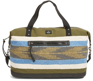 Volcom 'Vintage Queen' Canvas Overnight Bag with Faux Leather Trim $65 thestylecure.com