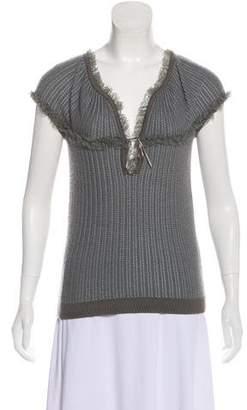 Nina Ricci Short Sleeve Cashmere Top